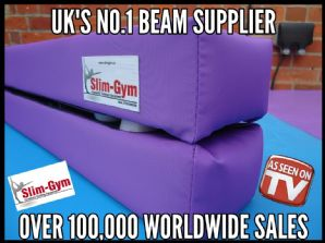 3.6Mtr (12FT) Folding Balance Beam - TUF-TOP Waterproof Fabric Range - 'PURPLE' (1)
